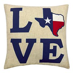 Celebrate Friends & Family Together Texas ''Love'' Throw Pillow