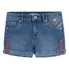 Girls 7-16 Levi's Embroidery Embellished Shorty Shorts
