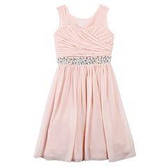 Girls 7-16 Speechless Pleated Bodice Rhinestone Dress