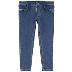 Toddler Girl Carter's Ruffled Denim Pants