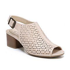 784a502e8b857b LifeStride Relay 2 Women s Peep-Toe Sandals. Taupe Black