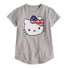 Girls 4-10 Jumping Beans® Hello Kitty® American Tee
