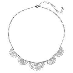 Filigree Scalloped Nickel Free Necklace