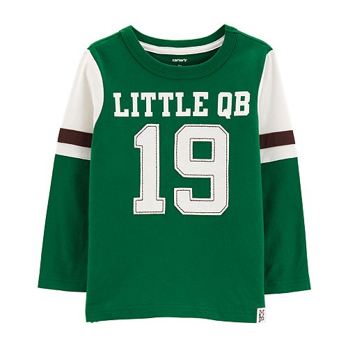 "Baby Boy Carter's ""Little QB"" Football Graphic Tee"