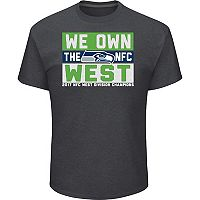Men's Seattle Seahawks 2017 NFC West Division Champions Line of Scrimmage Tee
