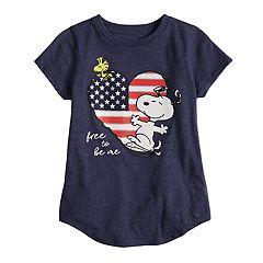 Girls 4-10 Jumping Beans® Peanuts Snoopy ' Free To Be Me' Tee