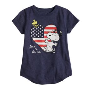 """Girls 4-10 Jumping Beans® Peanuts Snoopy """" Free To Be Me"""" Tee"""