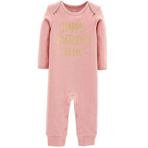 Baby Girl Carter's Happy Birthday to Me Bodysuit