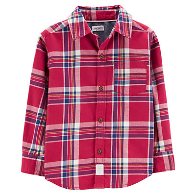 baby boy carter s plaid flannel button down shirt null