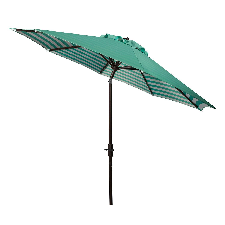 Striped Outdoor Patio Umbrella