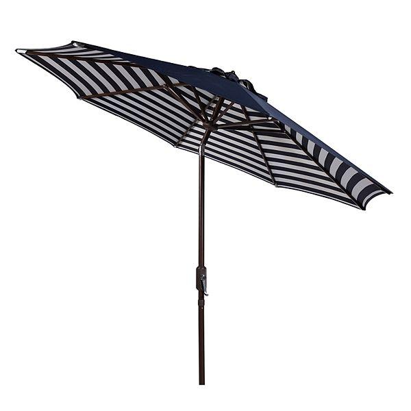 Safavieh 9 Ft Striped Outdoor Patio Umbrella