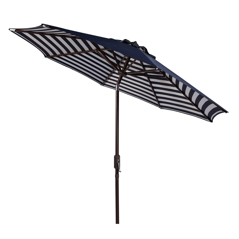 Safavieh 9 Ft. Striped Outdoor Patio Umbrella