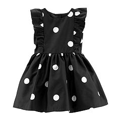 Girls 4-8 Carter's Polka-Dot Ruffled Sateen Dress