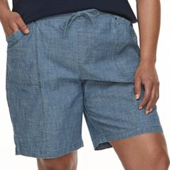 Plus Size Croft & Barrow® Drawstring Shorts