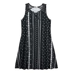 Girls 7-16 Mudd® Printed Crochet Dress