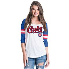 Women's Chicago Cubs Raglan Tee