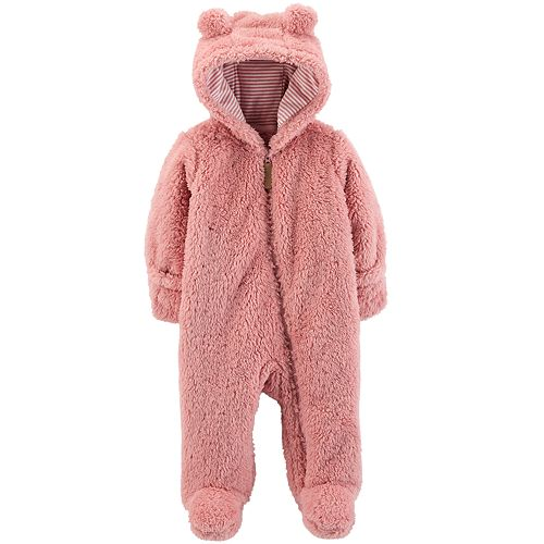 Just Love Fleece Baby Girl Bunting Pram Snowsuit