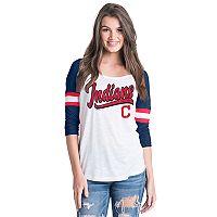 Women's Cleveland Indians Raglan Tee