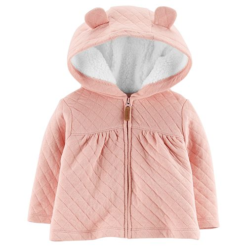Baby Girl Carter's Sherpa Lined Quilted Jacket