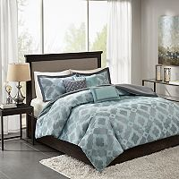 Madison Park Axel 6 pc Jacquard Duvet Cover Set
