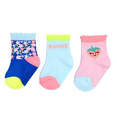 Baby / Toddler Girl Carter's 3-pack Scalloped Crew Socks