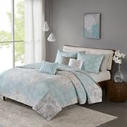 Madison Park Joanna 6 pc Reversible Cotton Sateen Coverlet Set