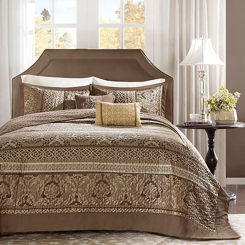 Madison Park Venetian 5-piece Jacquard Bedspread Set