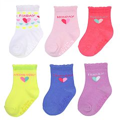 Baby / Toddler Girl Carter's 6-pack Day of the Week Scalloped Crew Socks