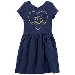 Girls 4-12 Carter's 'Girl Power' Dress