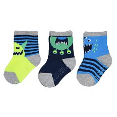Baby / Toddler Boy Carter's 3-pack Monster Crew Socks