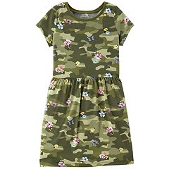 Girls 4-12 Carter's Camo Floral-Print Dress
