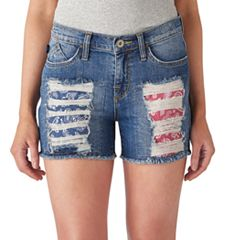 Women's Rock & Republic® Hula Ripped Jean Shorts