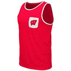 Men's Colosseum Wisconsin Badgers Tank Top
