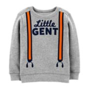 "Baby Boy Carter's ""Little Gent"" Suspender Graphic Pullover Sweater"