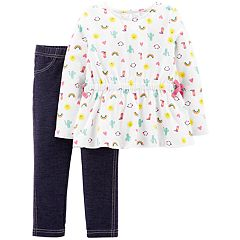 Baby Girl Carter's Rainbow Top & Jeggings Set