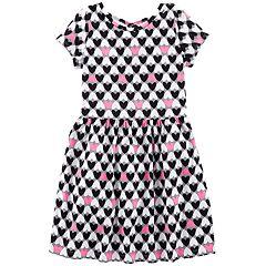 Girls 4-12 Carter's Heart Print Dress