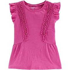 Girls 4-12 Carter's Ruffled Flutter Tee