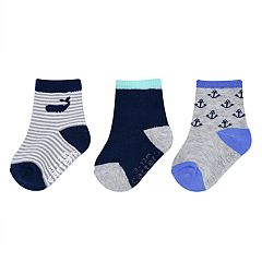 Baby / Toddler Boy Carter's 3-pack Nautical Crew Socks