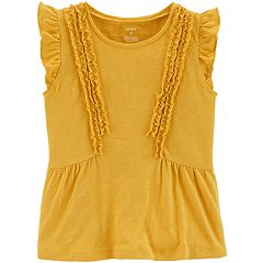 Girls 4-12 Carter's Flutter Ruffled Tee