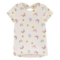 Girls 4-12 Carter's Butterfly Print Bow-Back Top