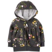 Baby Girl Carter's Floral Zip Cardigan
