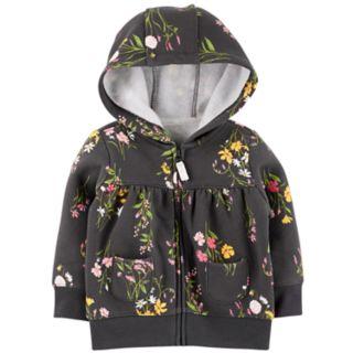 Baby Girl Carter's Floral Zip Cardigan