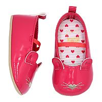 Baby Girl Carter's Mouse Critter Mary Jane Crib Shoes