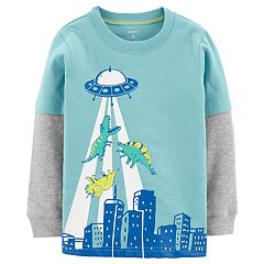 Baby Boy Carter's Aliens & Dinosaurs Mock Layer Graphic Tee