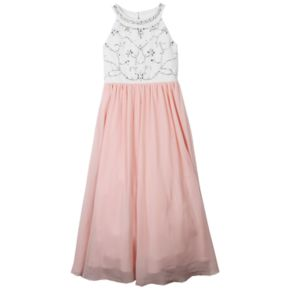 Girls 7-16 Speechless Sparkle Bodice Maxi Dress
