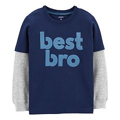 Baby Boy Carter's 'Best Bro' Thermal Mock Layer Graphic Tee