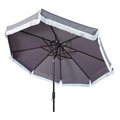 Safavieh 9-ft. Fringe Trim Outdoor Patio Umbrella