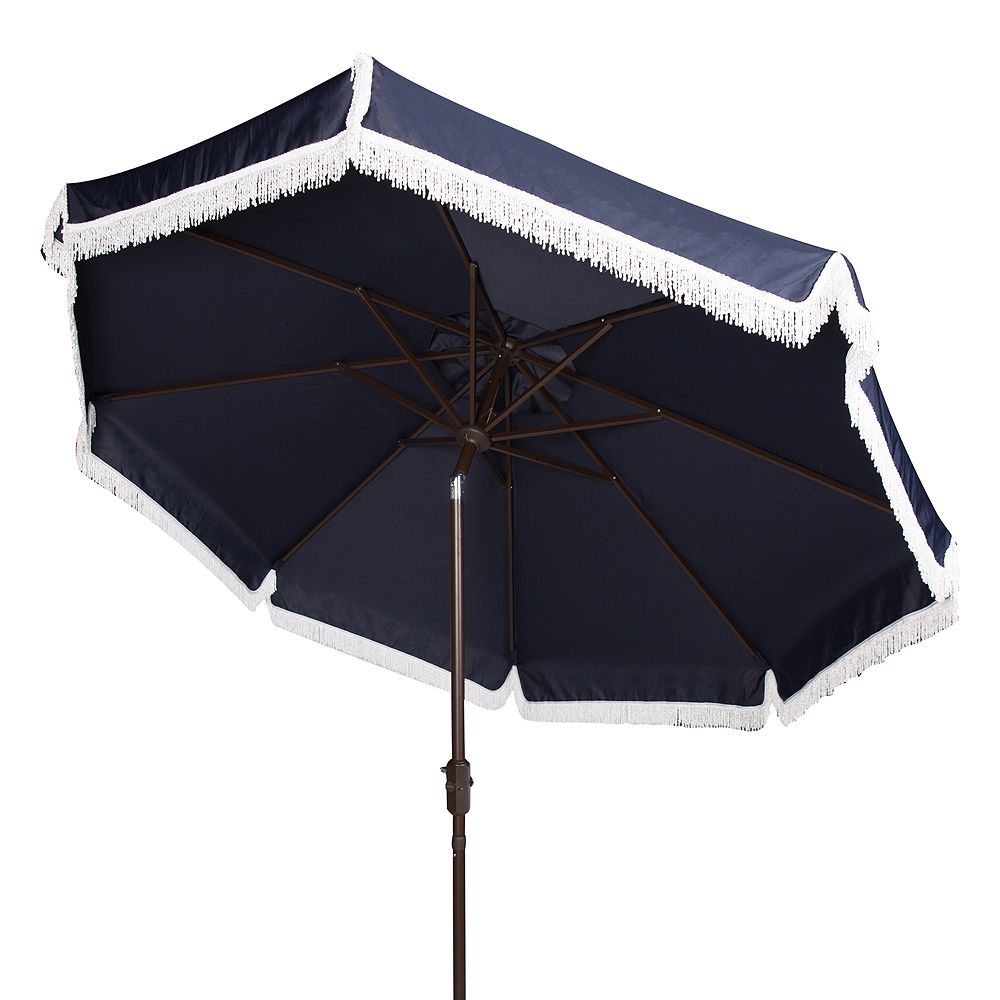 Safavieh 9-ft. Fringe Trim Outdoor Patio Umbrella