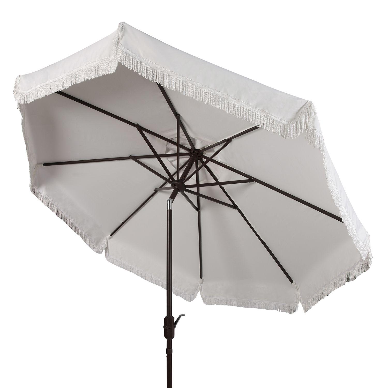 Fringe Trim Outdoor Patio Umbrella  sc 1 st  Kohlu0027s & Safavieh 9-ft. Fringe Trim Outdoor Patio Umbrella