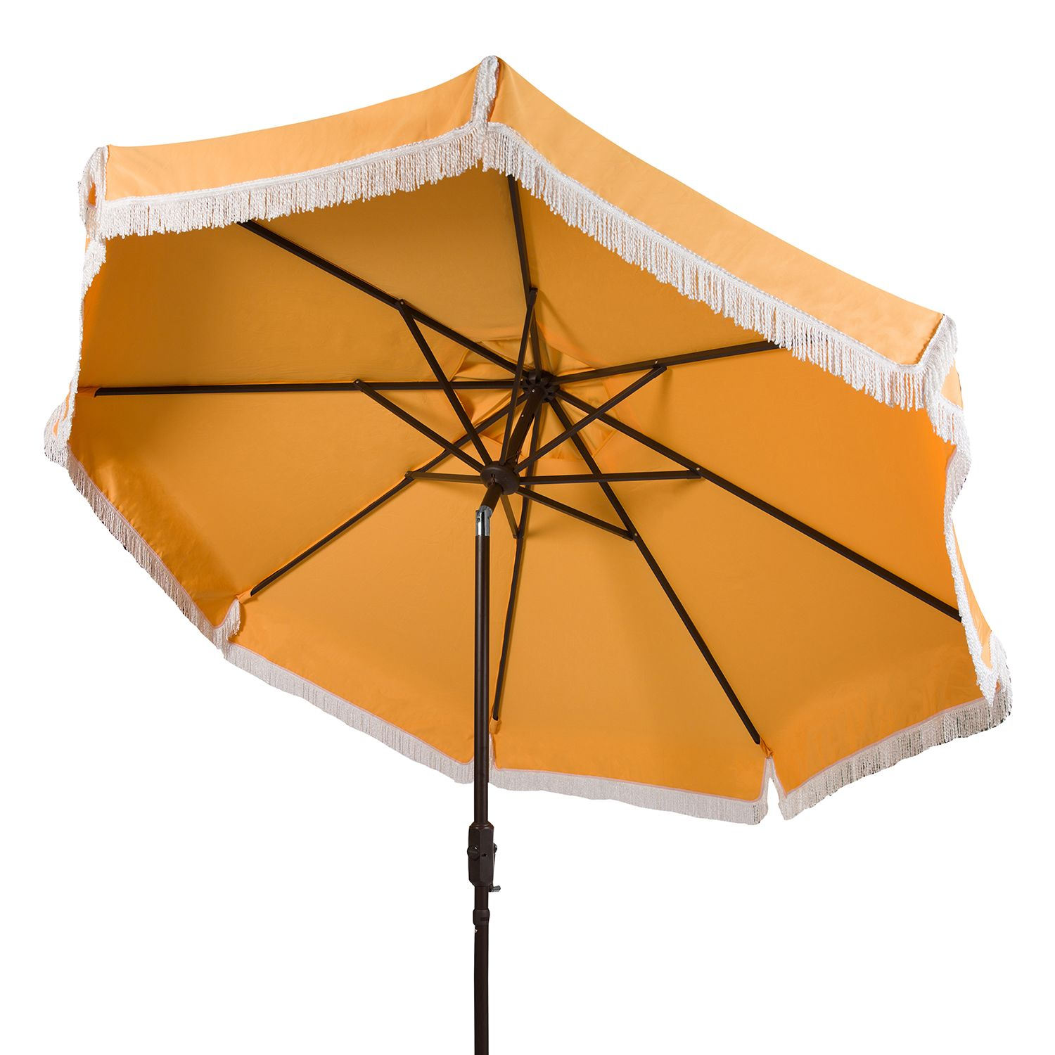 Fringe Trim Outdoor Patio Umbrella